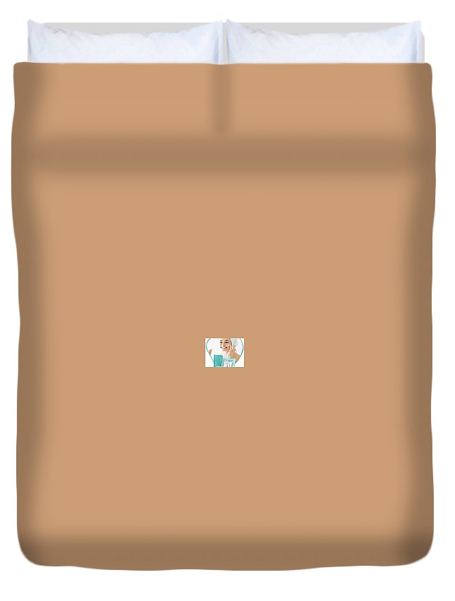 Prima Lift Skin Duvet Cover featuring the pastel Prima Lift Skin by Prima Lift Skin