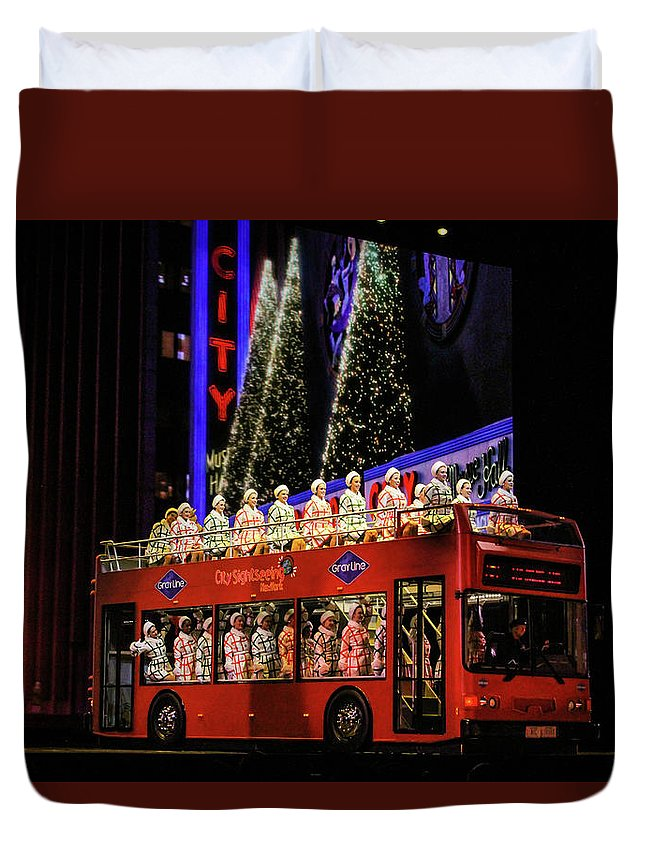 Holiday Duvet Cover featuring the photograph Radio City Rockettes New York City by Nicole Badger