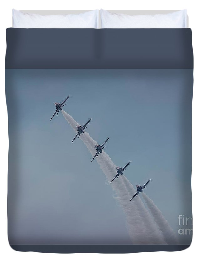 Red Duvet Cover featuring the photograph Red Arrows by Philip Pound