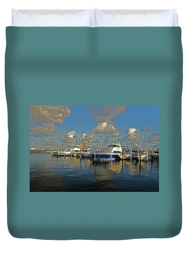 Duvet Cover featuring the photograph 6- Sailfish Marina by Joseph Keane