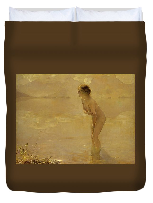 French Art Duvet Cover featuring the painting September Morn by Paul Chabas