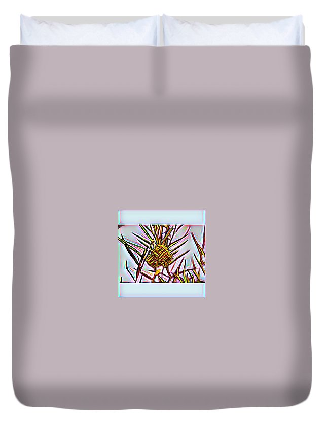 Duvet Cover featuring the digital art Swan Plant by Melinda Sullivan Image and Design
