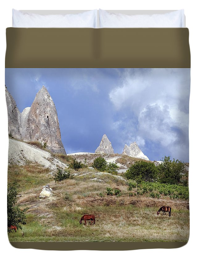 Goereme Duvet Cover featuring the photograph Cappadocia - Turkey by Joana Kruse