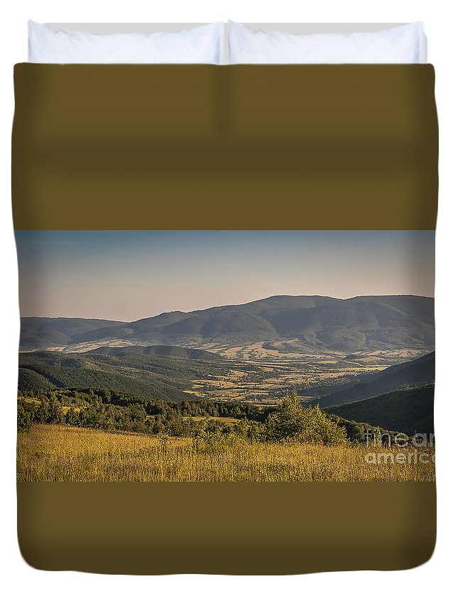 Carpathian Duvet Cover featuring the photograph Sunny Transcarpathia by Lyudmila Prokopenko