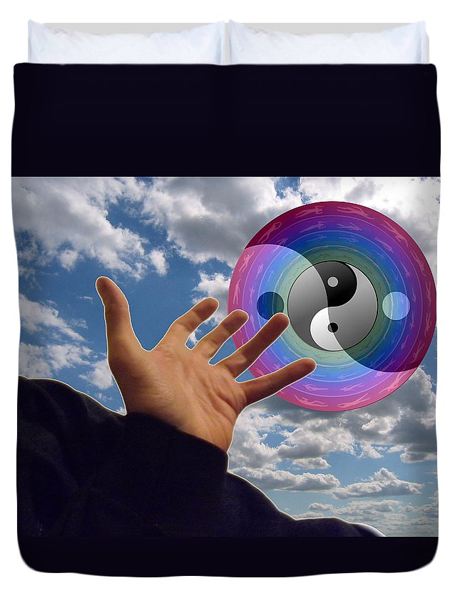 Surrealism Duvet Cover featuring the digital art Untitled by Christ Creation By Jon D Gemma