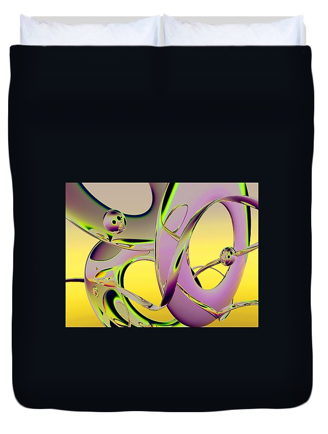 Scott Piers Duvet Cover featuring the painting 6jkb by Scott Piers