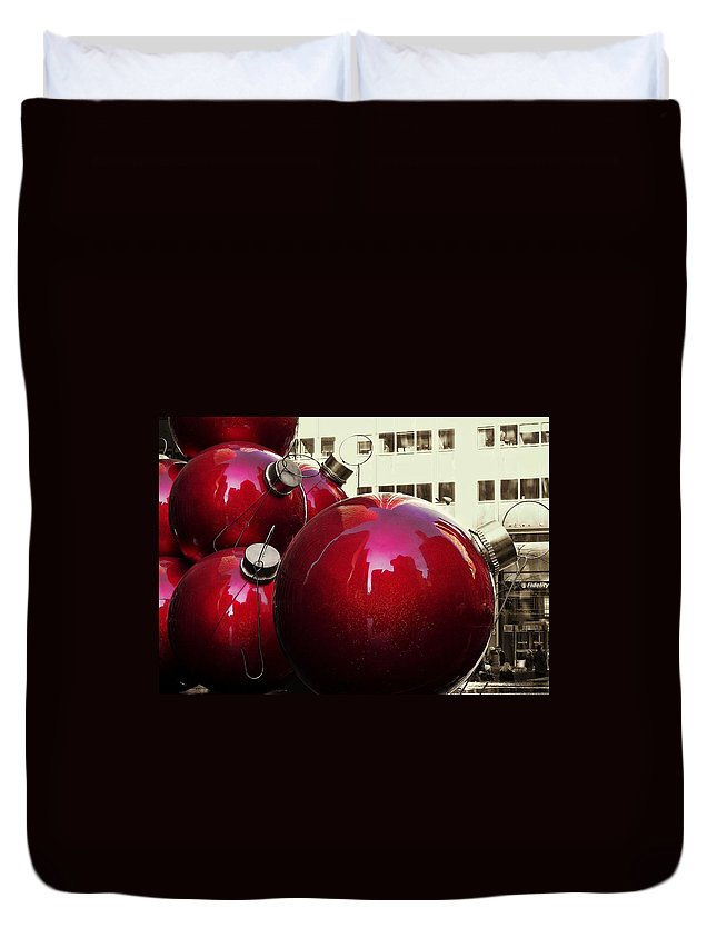 New York City Duvet Cover featuring the photograph 6th Avenue by JAMART Photography