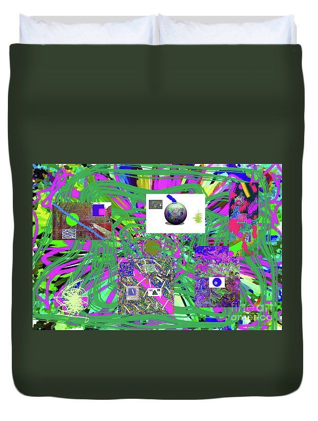 Walter Paul Bebirian Duvet Cover featuring the digital art 7-25-2015abcdefgh by Walter Paul Bebirian