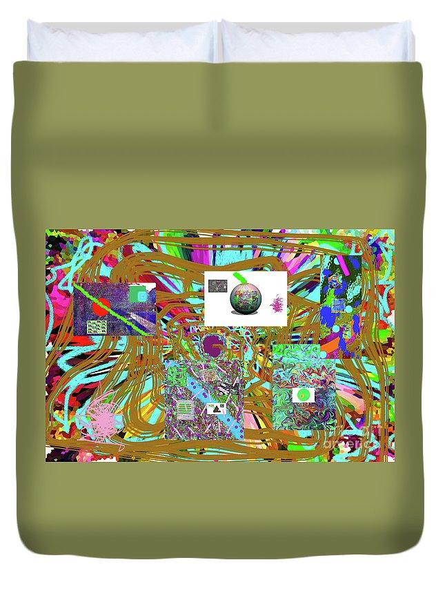 Walter Paul Bebirian Duvet Cover featuring the digital art 7-25-2015abcdefghijklmnopqrt by Walter Paul Bebirian