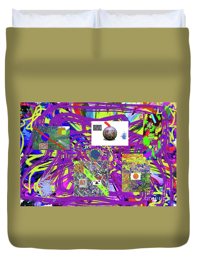 Walter Paul Bebirian Duvet Cover featuring the digital art 7-25-2015abcdefghijklmnopqrtuvwxyzabcde by Walter Paul Bebirian