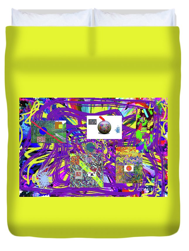 Walter Paul Bebirian Duvet Cover featuring the digital art 7-25-2015abcdefghijklmnopqrtuvwxyzabcdef by Walter Paul Bebirian