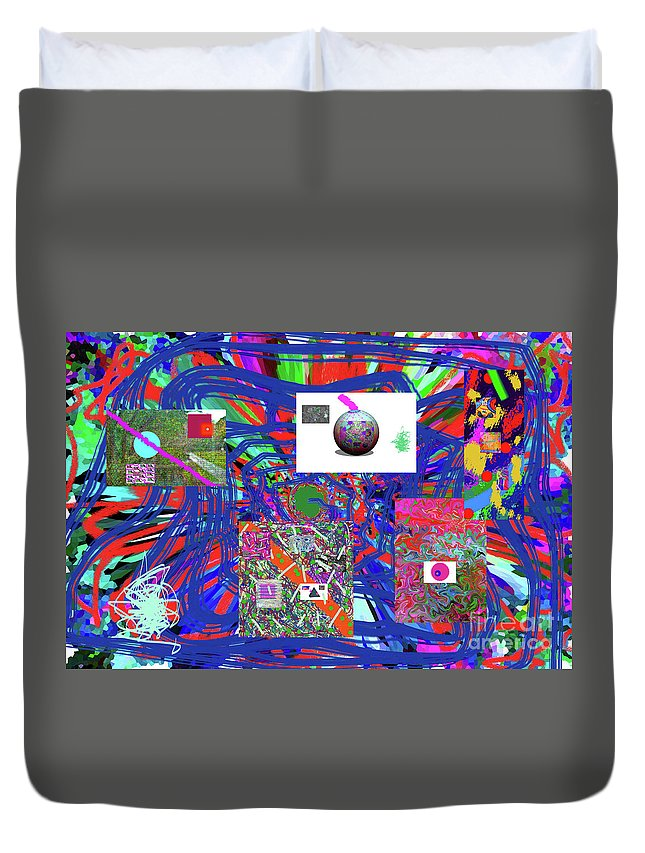 Walter Paul Bebirian Duvet Cover featuring the digital art 7-25-2015abcdefghijklmnopqrtuvwxyzabcdefghijkl by Walter Paul Bebirian