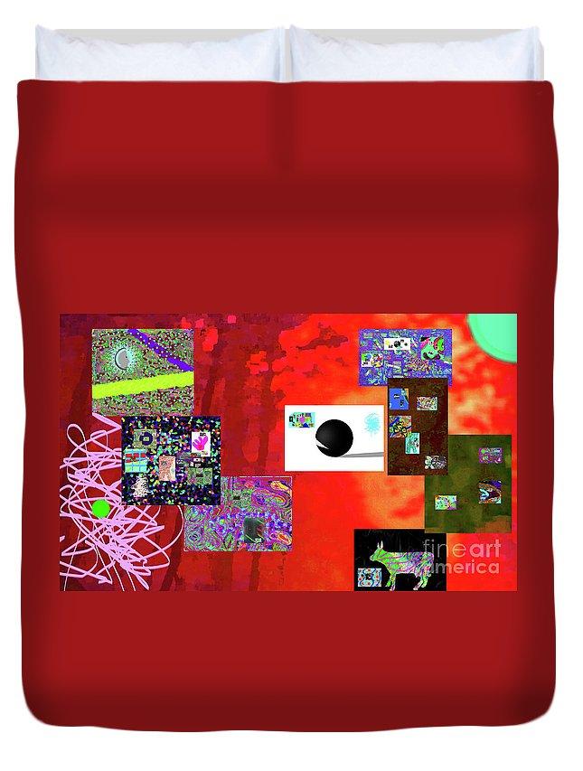Walter Paul Bebirian Duvet Cover featuring the digital art 7-30-2015fabcdefghijklmn by Walter Paul Bebirian