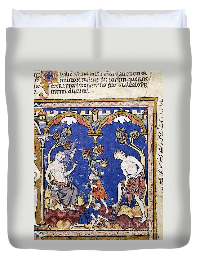 1250s Duvet Cover featuring the photograph Adam And Eve by Granger