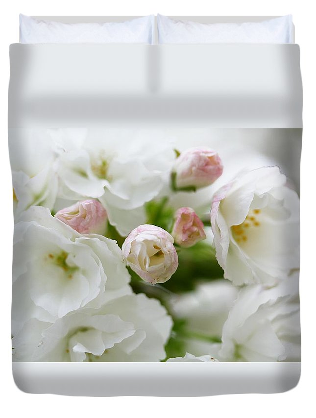 Duvet Cover featuring the photograph Bloosome by Kanlayanee Irek