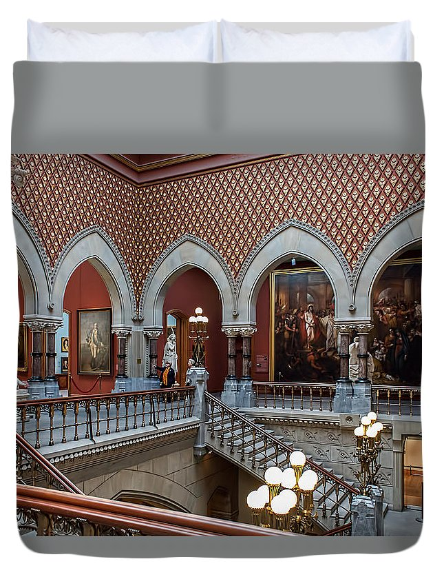 Architecture Duvet Cover featuring the photograph Pennsylvania Academy Of The Fine Arts by Kenneth Grant