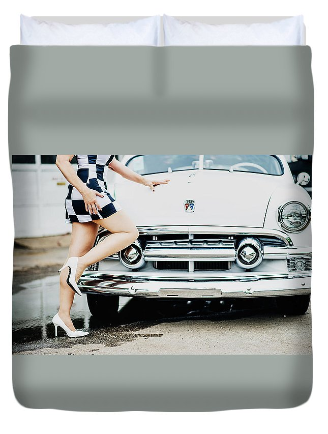 Sexy Duvet Cover featuring the photograph Pin Up #17 by Susan Sprague