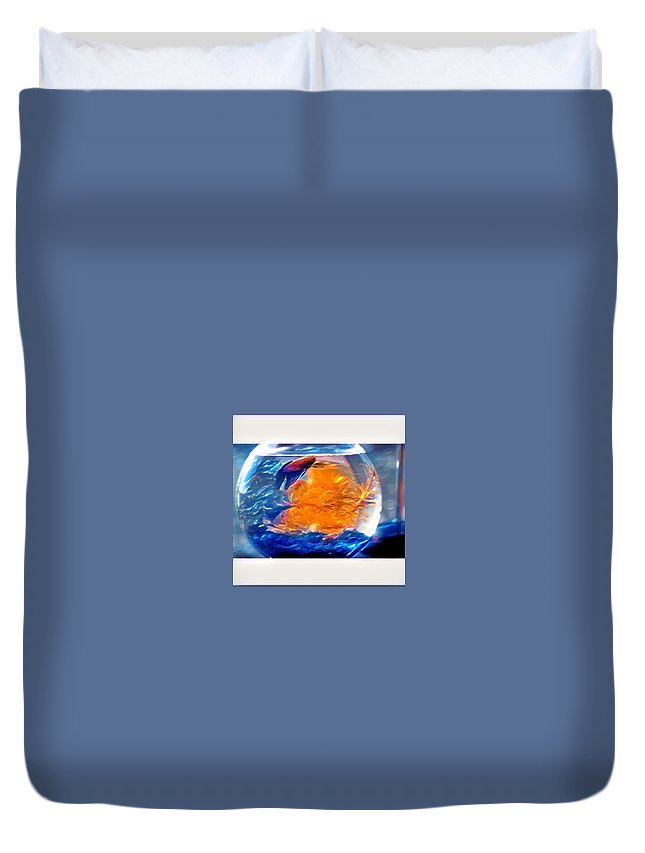 Duvet Cover featuring the digital art Siamese Fighting Fish by Melinda Sullivan Image and Design