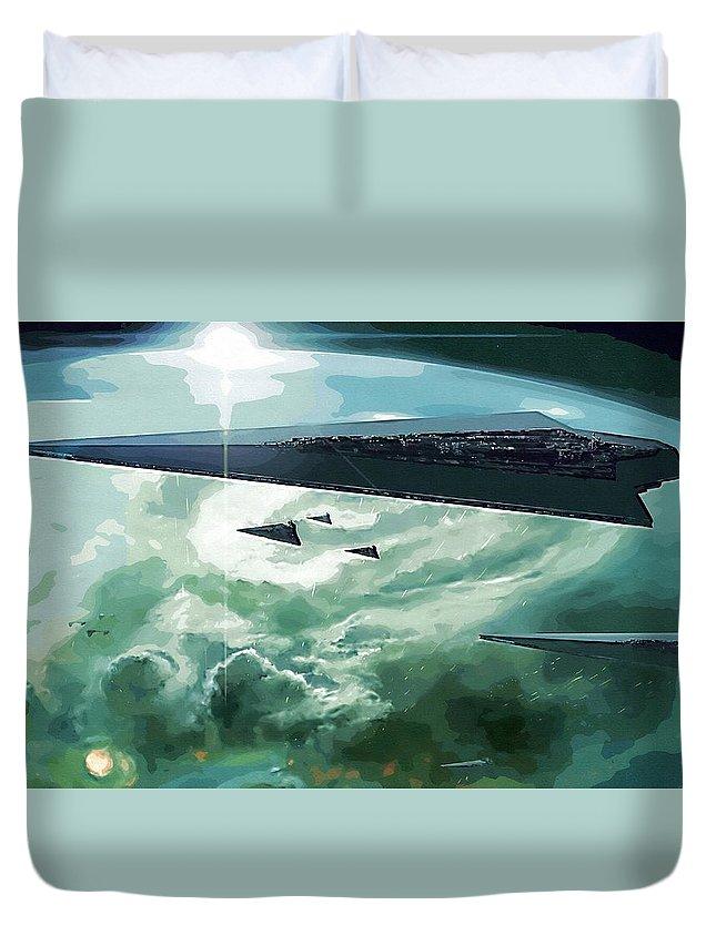 Star Wars Boba Fett Duvet Cover featuring the digital art Star Wars Print And Poster by Larry Jones
