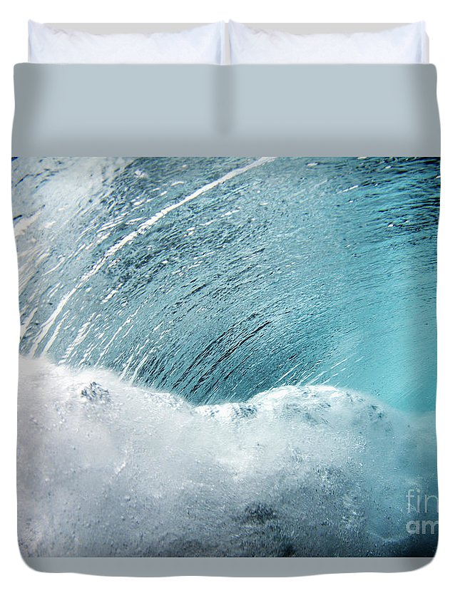 Amaze Duvet Cover featuring the photograph Underwater Wave by Vince Cavataio - Printscapes