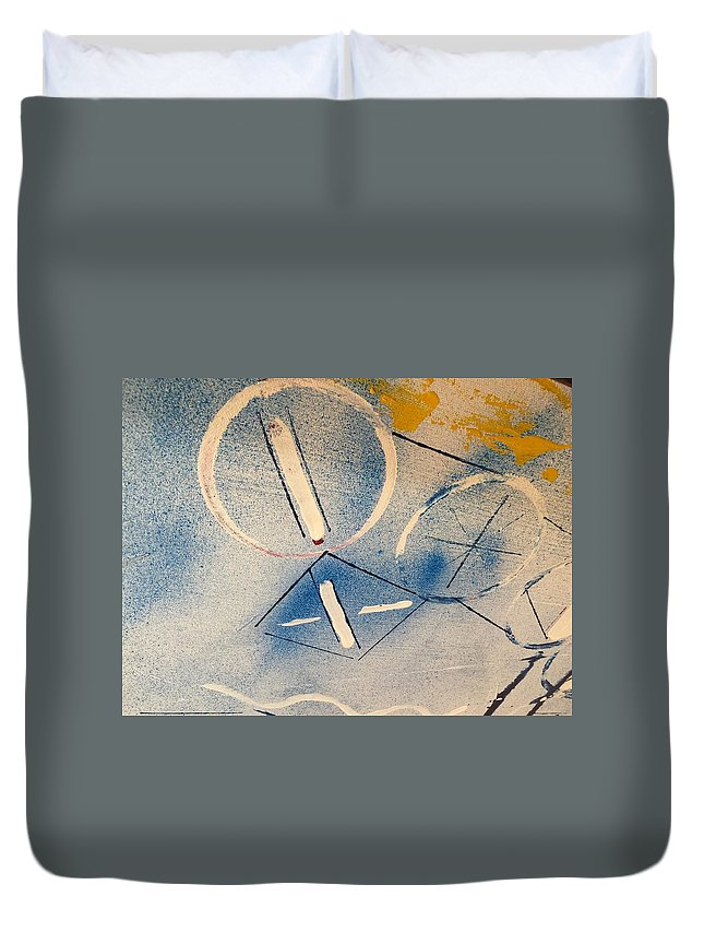 Abstract Duvet Cover featuring the painting Untitled by Kyle Braund