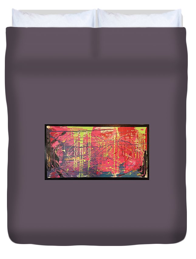 Abstract Expressionism Duvet Cover featuring the painting Untitled by Tony Smith
