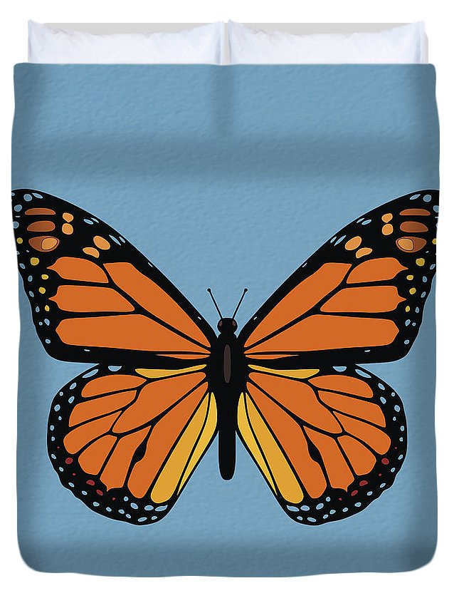 Monarch Butterfly Duvet Cover featuring the photograph 74- Monarch Butterfly by Joseph Keane