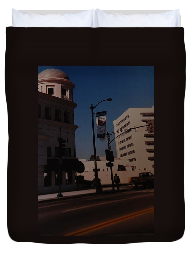 Hollywood California Duvet Cover featuring the photograph 75th Hollywood by Rob Hans