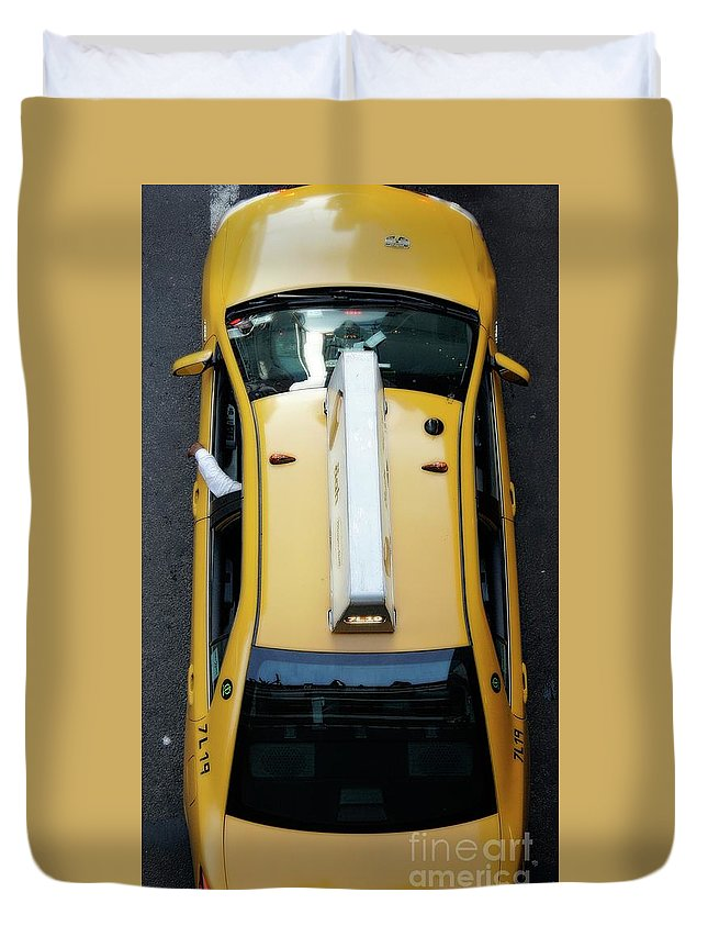 Yellow Duvet Cover featuring the photograph 7l19 by Lilliana Mendez