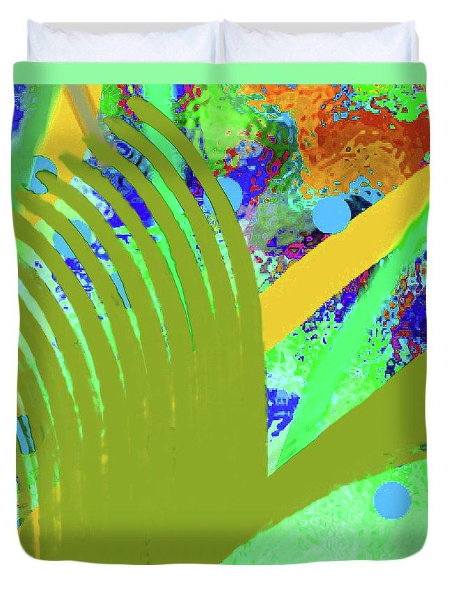 Walter Paul Bebirian Duvet Cover featuring the digital art 8-27-2015cabcdefghijklmnopq by Walter Paul Bebirian