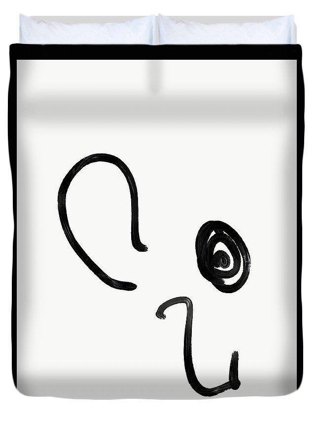 Walter Paul Bebirian Duvet Cover featuring the digital art 8-8-2018a by Walter Paul Bebirian