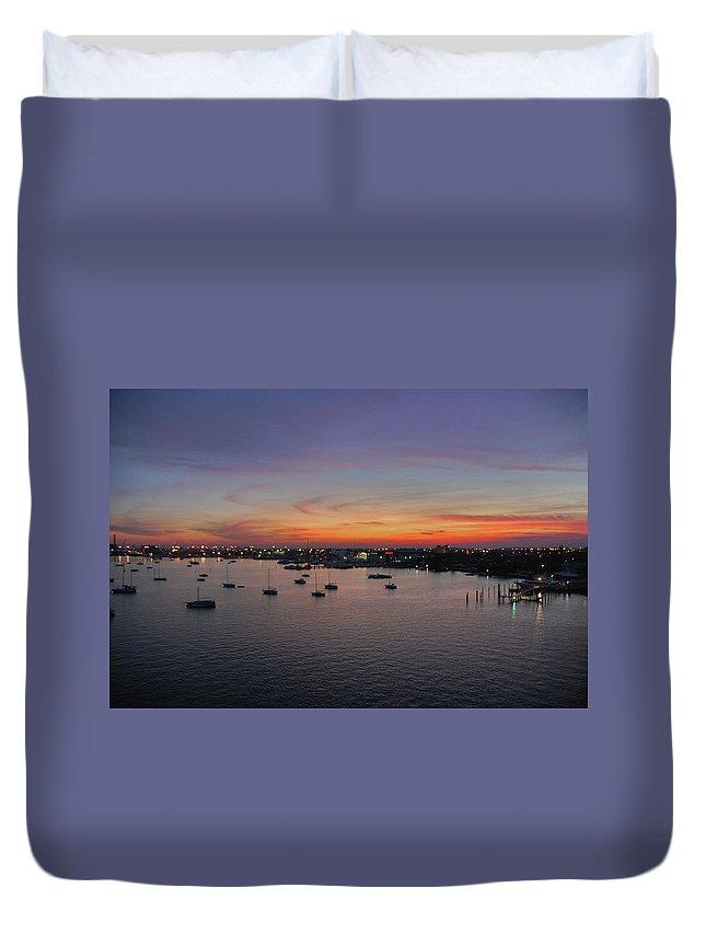 Sunset Duvet Cover featuring the photograph 8- Ahhhhh by Joseph Keane