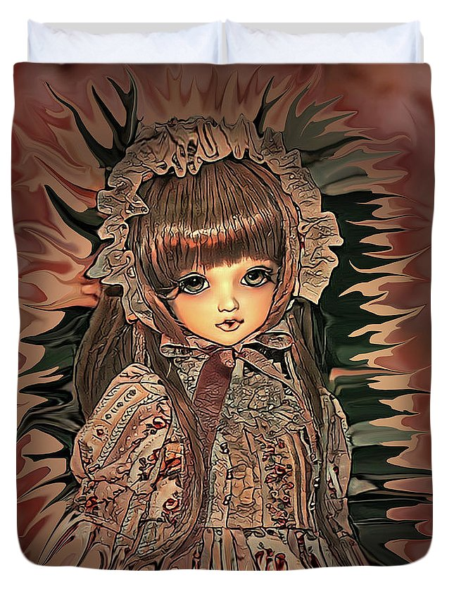 Digital Art Duvet Cover featuring the digital art Baby Doll Collection by Artful Oasis