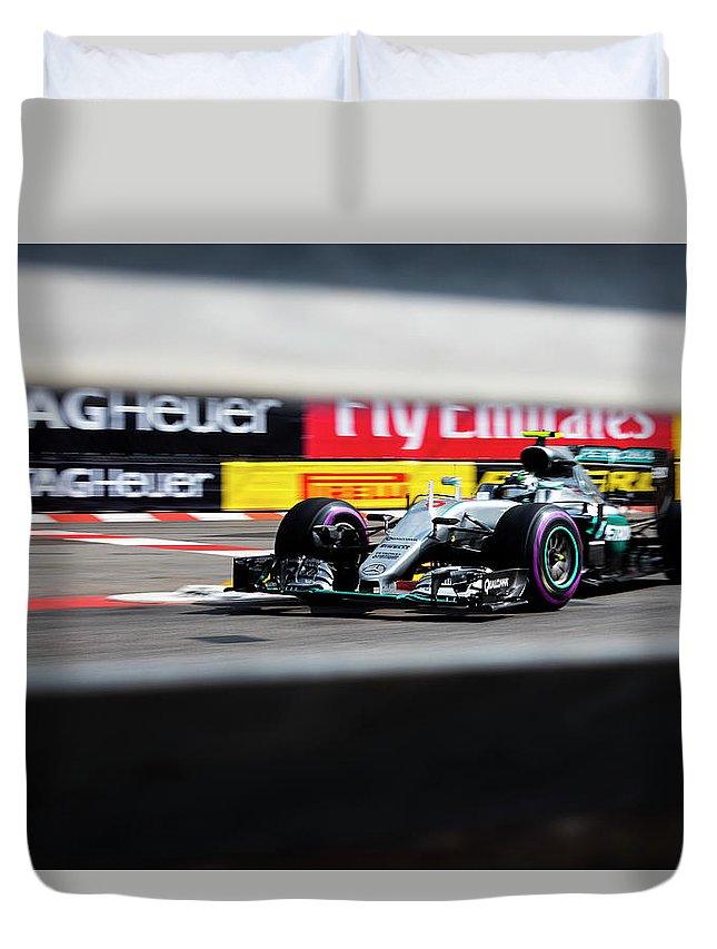 Monaco Duvet Cover featuring the photograph Formula 1 Monaco Grand Prix 2016 by Srdjan Petrovic