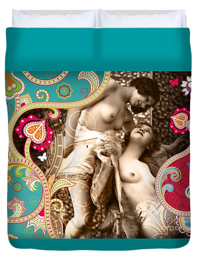 Nostalgic Seduction Duvet Cover featuring the photograph Goddesses by Chris Andruskiewicz
