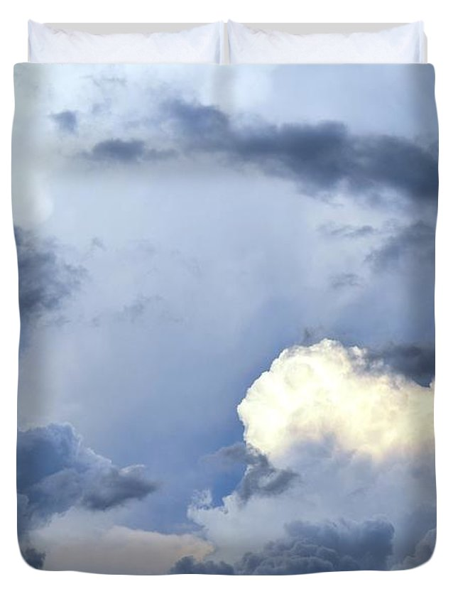 Landscape Duvet Cover featuring the digital art SKY by Erin Schuettler