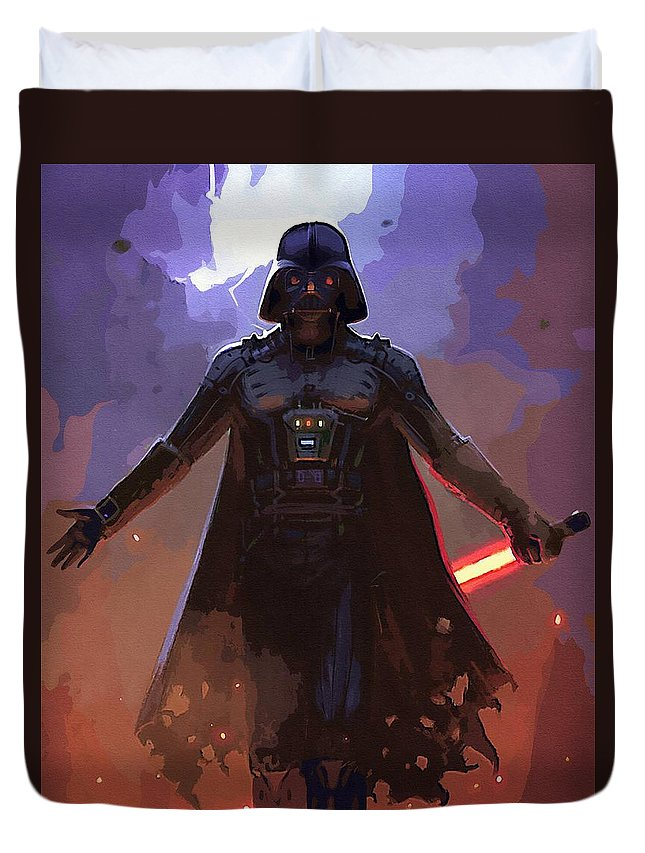 Star Wars Sith Duvet Cover featuring the digital art Star Wars Episode 3 Poster by Larry Jones