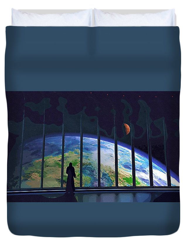 Anakin Star Wars Duvet Cover featuring the digital art Star Wars For Poster by Larry Jones