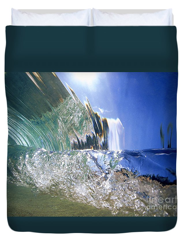 Abstract Duvet Cover featuring the photograph Underwater Wave by Vince Cavataio - Printscapes