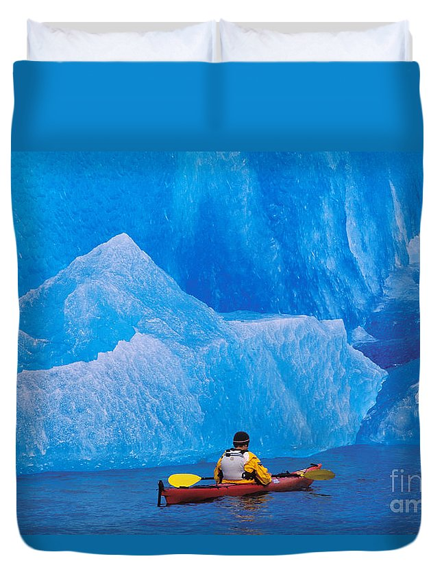 Adventure Duvet Cover featuring the photograph View Of Alaska by John Hyde - Printscapes