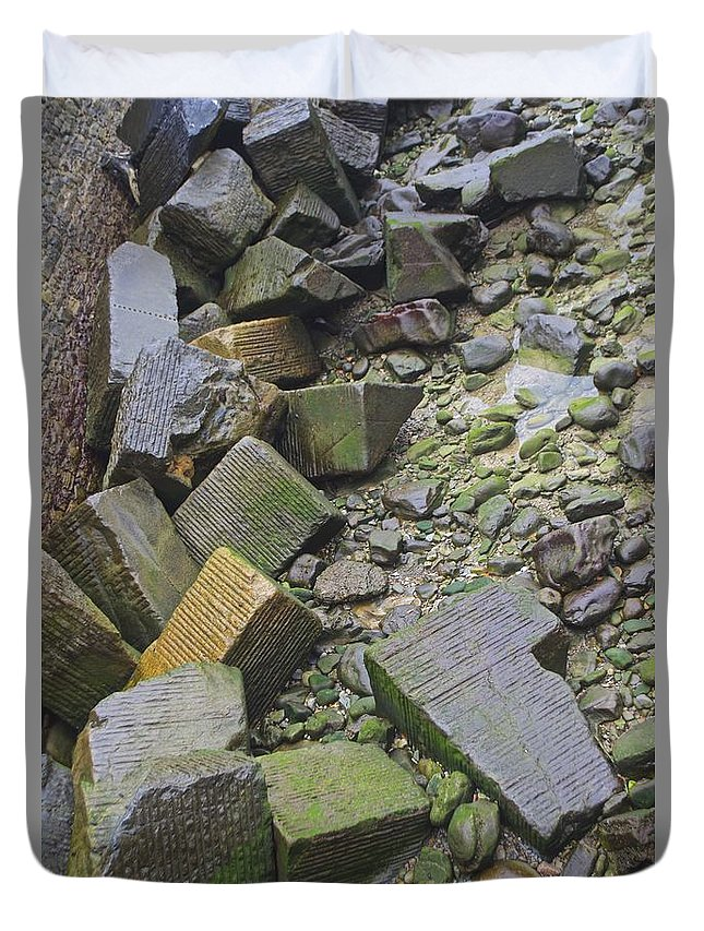 Stone Duvet Cover featuring the photograph Untitled by Eric Reger