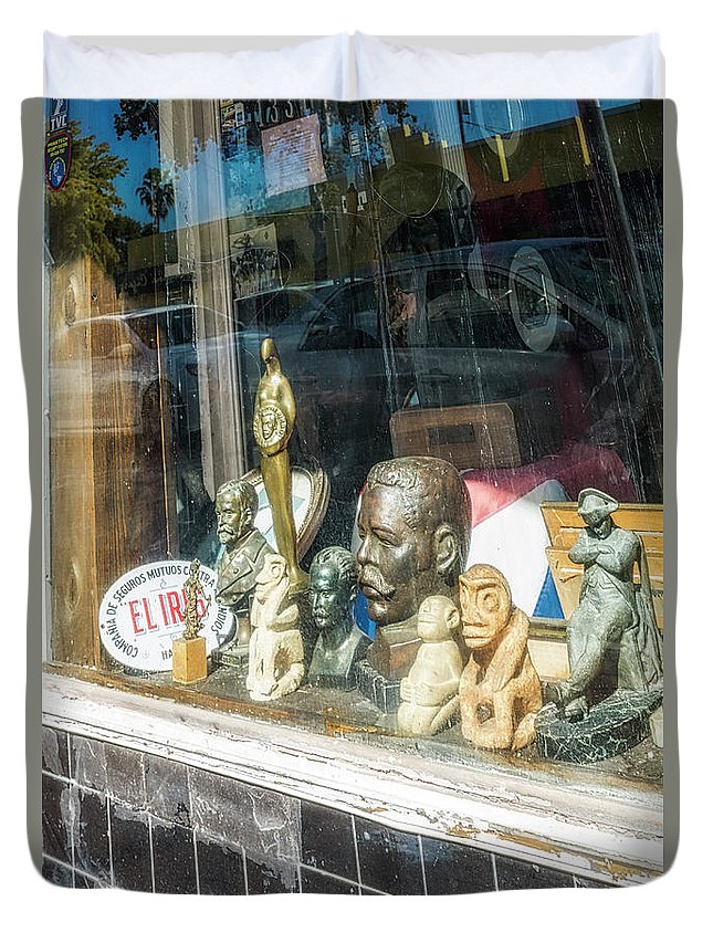 Florida Duvet Cover featuring the photograph 8238- Little Havana Store by David Lange
