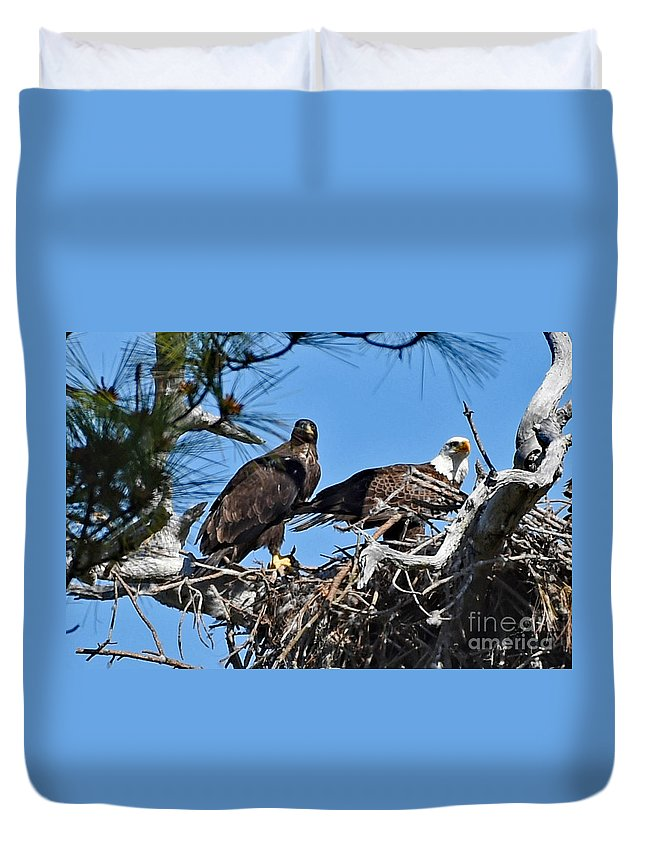 Duvet Cover featuring the photograph 8763 by Don Solari