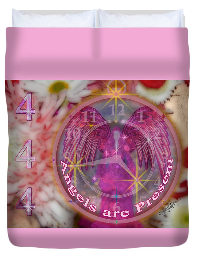 444 Duvet Cover featuring the photograph #8913_444 Angels Are Present by Barbara Tristan