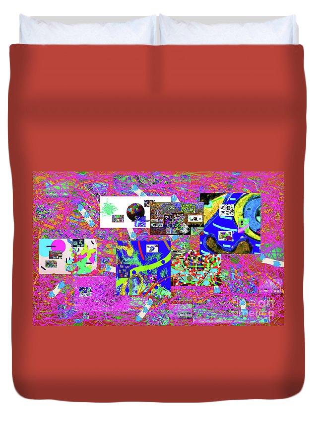 Walter Paul Bebirian Duvet Cover featuring the digital art 9-12-2015babcd by Walter Paul Bebirian