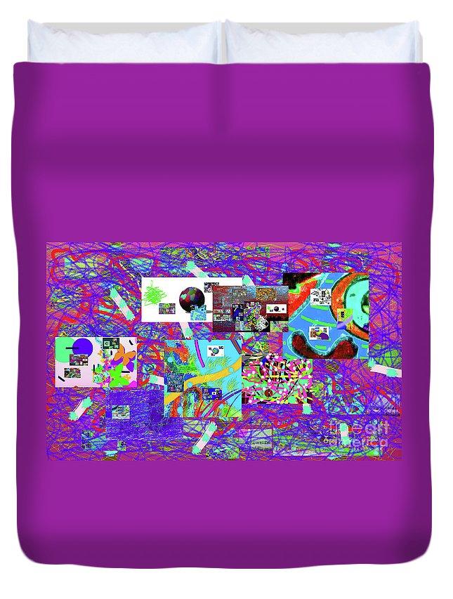 Walter Paul Bebirian Duvet Cover featuring the digital art 9-12-2015babcdefgh by Walter Paul Bebirian