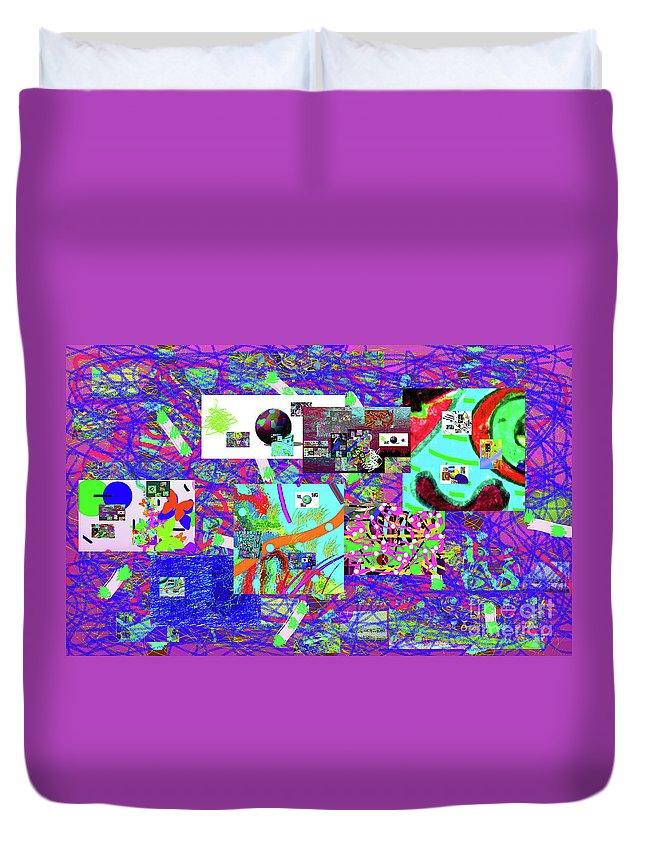 Walter Paul Bebirian Duvet Cover featuring the digital art 9-12-2015babcdefghij by Walter Paul Bebirian