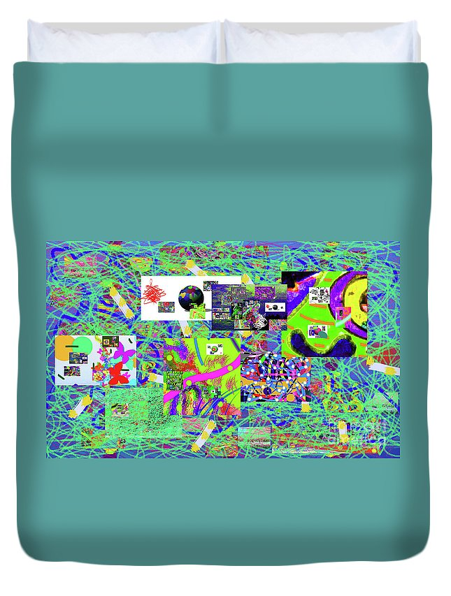 Walter Paul Bebirian Duvet Cover featuring the digital art 9-12-2015babcdefghijklmnopqr by Walter Paul Bebirian