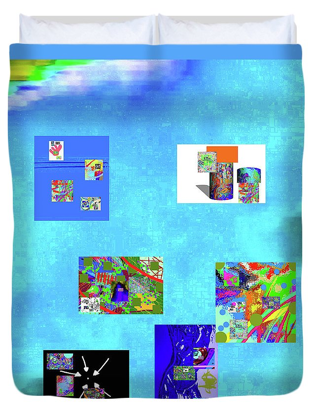 Walter Paul Bebirian Duvet Cover featuring the digital art 9-6-2015habcd by Walter Paul Bebirian