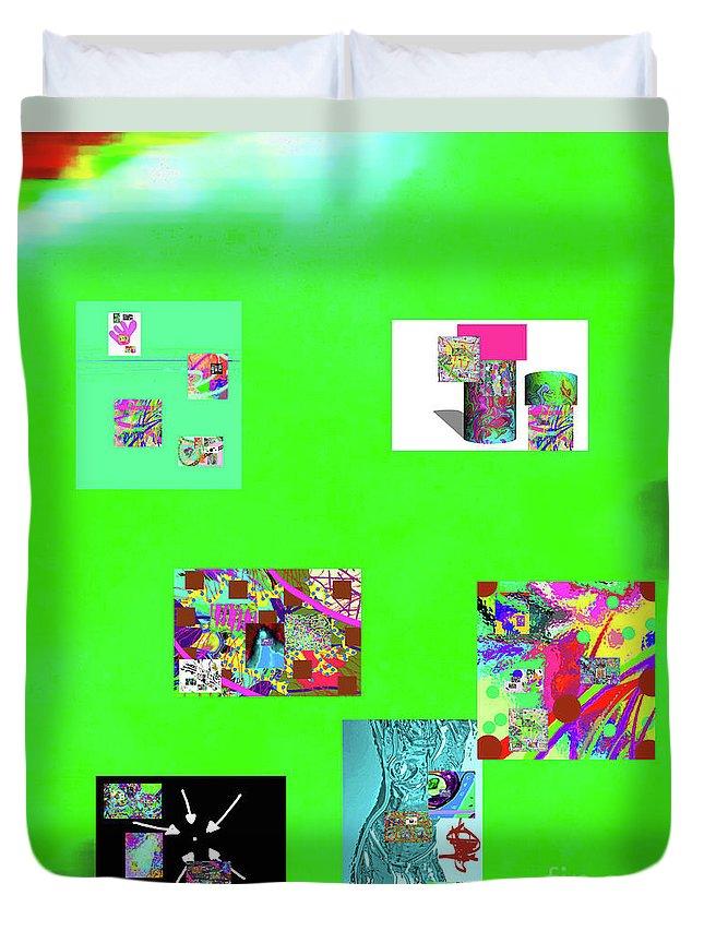 Walter Paul Bebirian Duvet Cover featuring the digital art 9-6-2015habcdefghij by Walter Paul Bebirian